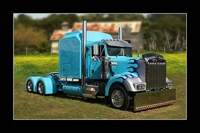 Print featuring the photograph Custom Kenworth by Keith Hawley