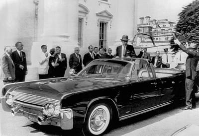 Custom Lincoln Limo For Jfk Art Print