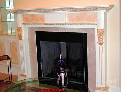 Mixed Media - Custom Painted Fireplace by Lizi Beard-Ward