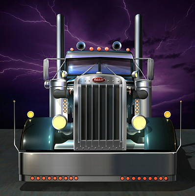 Digital Art - Custom Peterbilt 3 by Stuart Swartz