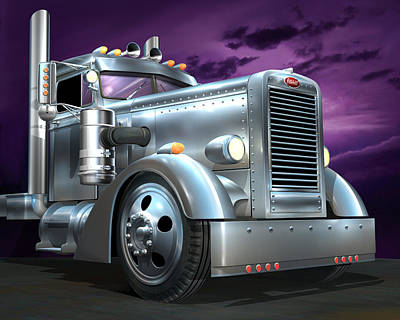 Custom Peterbilt Silver Ghost Art Print