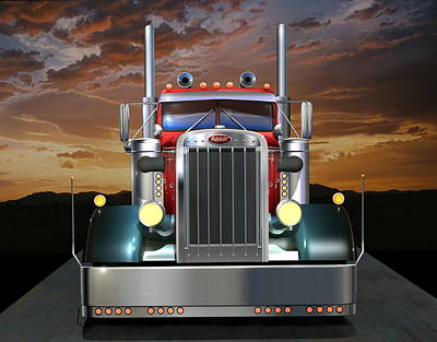 Digital Art - Custom Peterbilt by Stuart Swartz