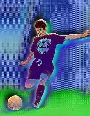 Sports Paintings - Custom Portrait Family Child Sports Soccer by Tony Rubino