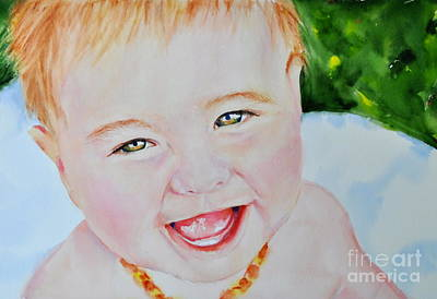 Painting - Custom Portrait Of A Baby by Kathy Flood