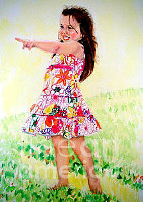 Painting - Custom Portrait Of A Young Girl by Kathy Flood