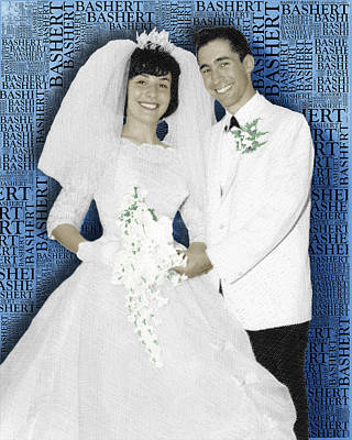 Painting - Custom Portrait Wedding  Parents Anniversary by Tony Rubino