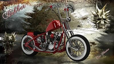 Digital Art - Custom Red Bobber by Louis Ferreira