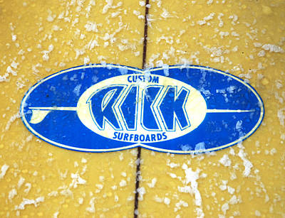 Epoxy Resin Photograph - Custom Rick Surfboards by Ron Regalado