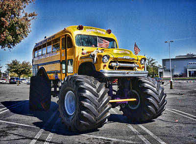 Photograph - Custom School Bus by Ron Roberts