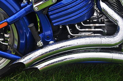 Photograph - Custom Twin Pipes by Graham Hawcroft pixsellpix