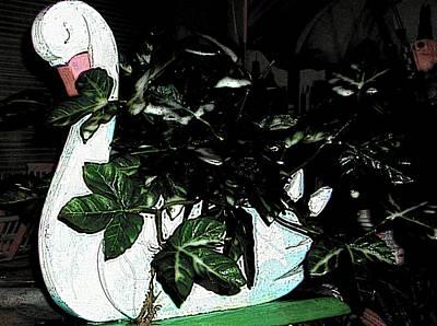 Custom Wooden Duck Original by HollyWood Creation By linda zanini