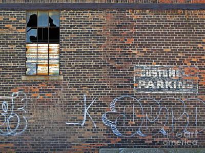 Vandalize Photograph - Customer Parking by Ann Horn