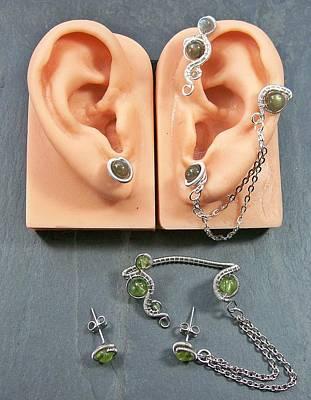 Ear Cuff Jewelry - Customizable Ear Wrap/earrings Set by Heather Jordan