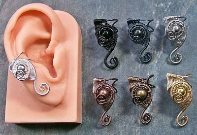 Ear Cuff Jewelry - Customizable Half-sized Web-coil Ear Cuff by Heather Jordan