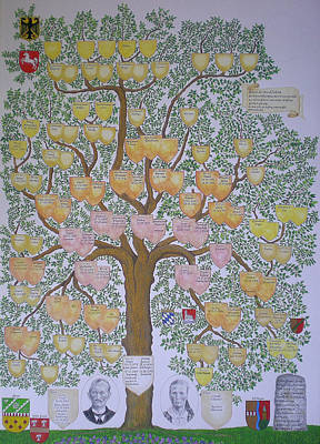 Customized Family Tree Art Print by Alix Mordant