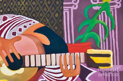Painting - Cut - Ear Guitar by James Lavott