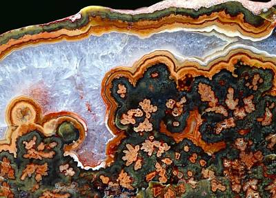 Quartz.rocks Photograph - Cut And Polished Agate by Science Photo Library