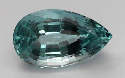 Cut Aquamarine Gemstone Art Print by Dorling Kindersley/uig