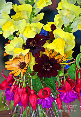 Photograph - Cut Bouquet Of Beautiful Flowers Art Prints by Valerie Garner
