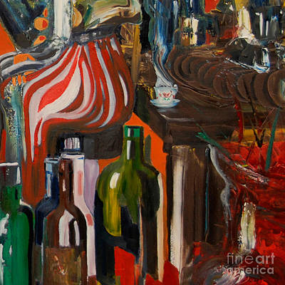 Painting - Cut II - Mind That Hot Tea by James Lavott