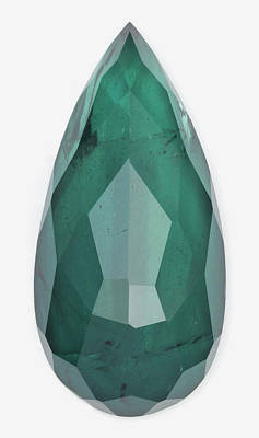 Cut Indicolite Gemstone Print by Dorling Kindersley/uig