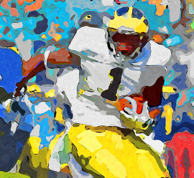 University Of Michigan Painting - Cut by John Farr