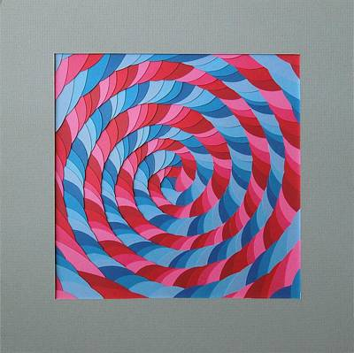 Mixed Media - Cut Paper Spiral by Ron Davidson