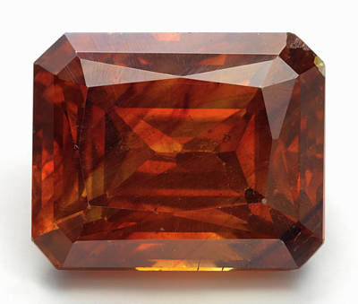 Single Object Photograph - Cut Sphalerite Gemstone by Dorling Kindersley/uig