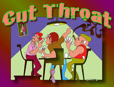 Cut Throat Art Print by Dean Gleisberg