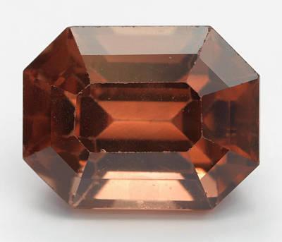 Zircon Photograph - Cut Zircon Gemstone by Dorling Kindersley/uig