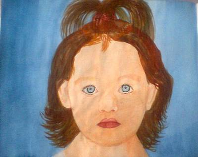 Thomas Brown Painting - Cute Adorable Girl by Thomas Brown