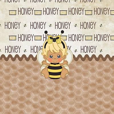 Adorable Digital Art - Cute Baby Bee by Debra  Miller