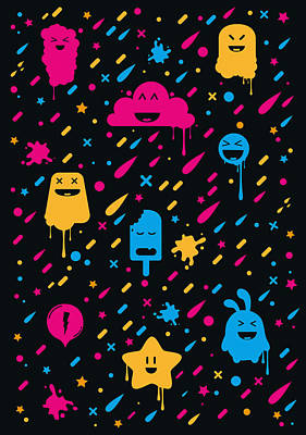 Cute Color Stuff Art Print by Philipp Rietz