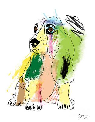 Whimsical Dog Digital Art - Cute Dog 2 by Mark Ashkenazi