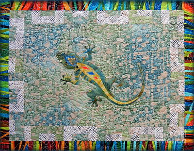 Salamanders Mixed Media - Cute Gecko by Ruta Naujokiene