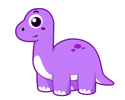 Brontosaurus Digital Art - Cute Illustration Of A Brontosaurus by Stocktrek Images