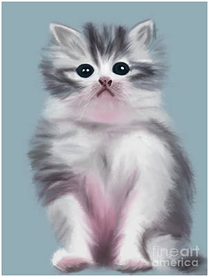 Cute Kitten Art Print