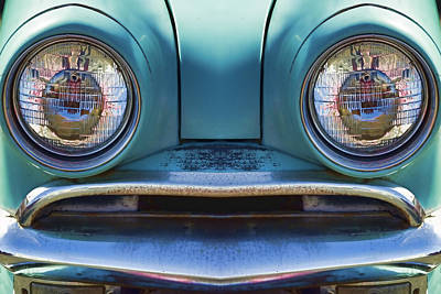 Cute Little Car Faces Number 1 Art Print