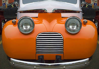 Cute Little Car Faces Number 5 Art Print