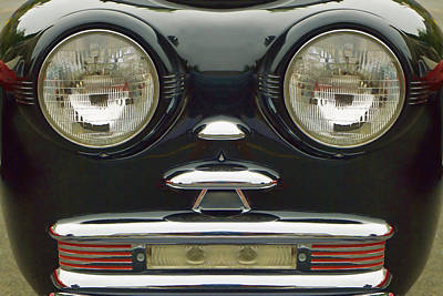 Cute Little Car Faces Number 6 Art Print