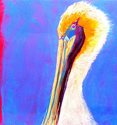 Loose Style Painting - Cute Pelican by Sue Jacobi