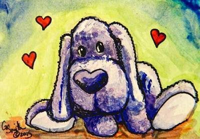 Travel Rights Managed Images - Cute Puppy With Hearts - Gretchen Smith Royalty-Free Image by Gretchen  Smith