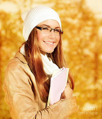 Book Jacket Photograph - Cute Student Girl by Anna Om