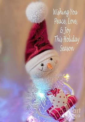 Cutest Snowman Christmas Card Art Print by Janie Johnson
