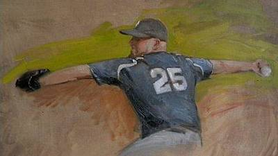 Fastball Painting - Cutter by Mark Hayden
