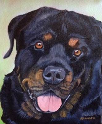 Painting - Cutter The Rottweiller by Sharon Schultz