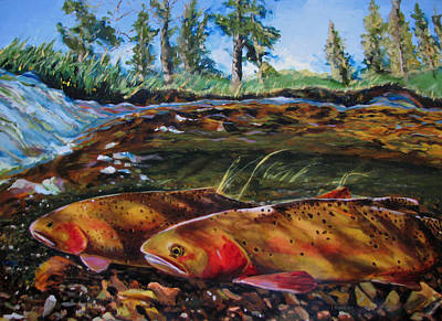 Painting - Cutthroat In The Ripples by Les Herman