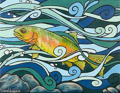 Ashlee Painting - Cutthroat Trout by Erin Ashlee Smith