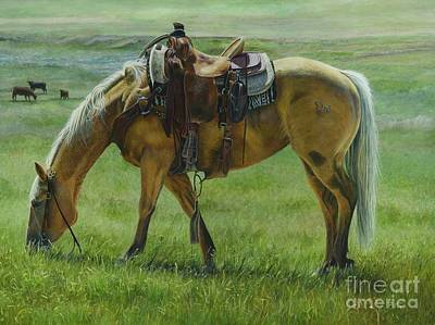 Painting - Cuttin Grass by Rosellen Westerhoff