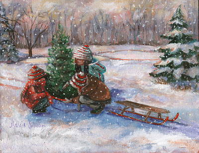 Painting - Cutting The Tree by Marcia Johnson